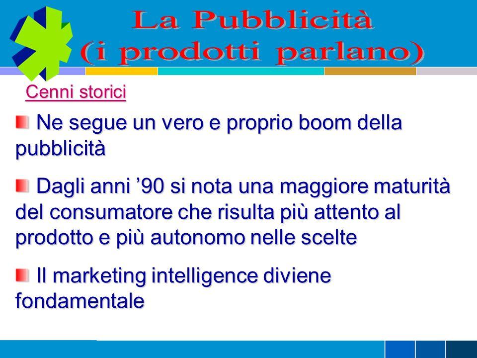 La Pubblicità (i prodotti parlano)