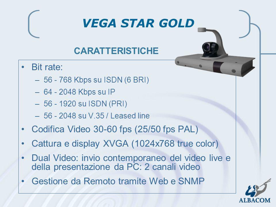 VEGA STAR GOLD CARATTERISTICHE Bit rate: