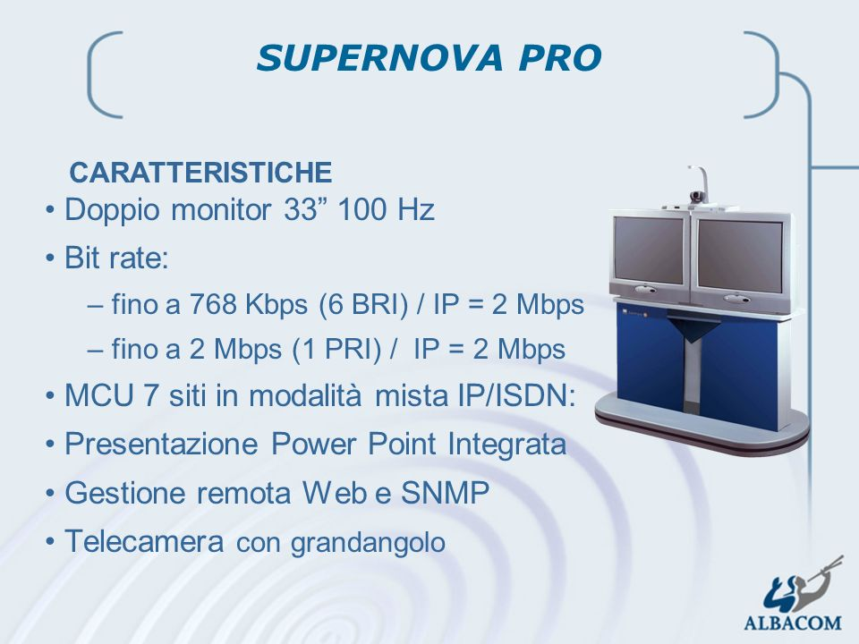 SUPERNOVA PRO Doppio monitor 33 100 Hz Bit rate: