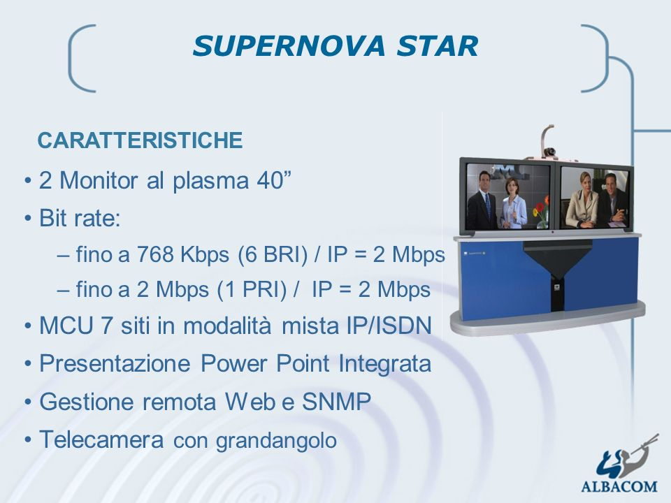 SUPERNOVA STAR 2 Monitor al plasma 40 Bit rate: