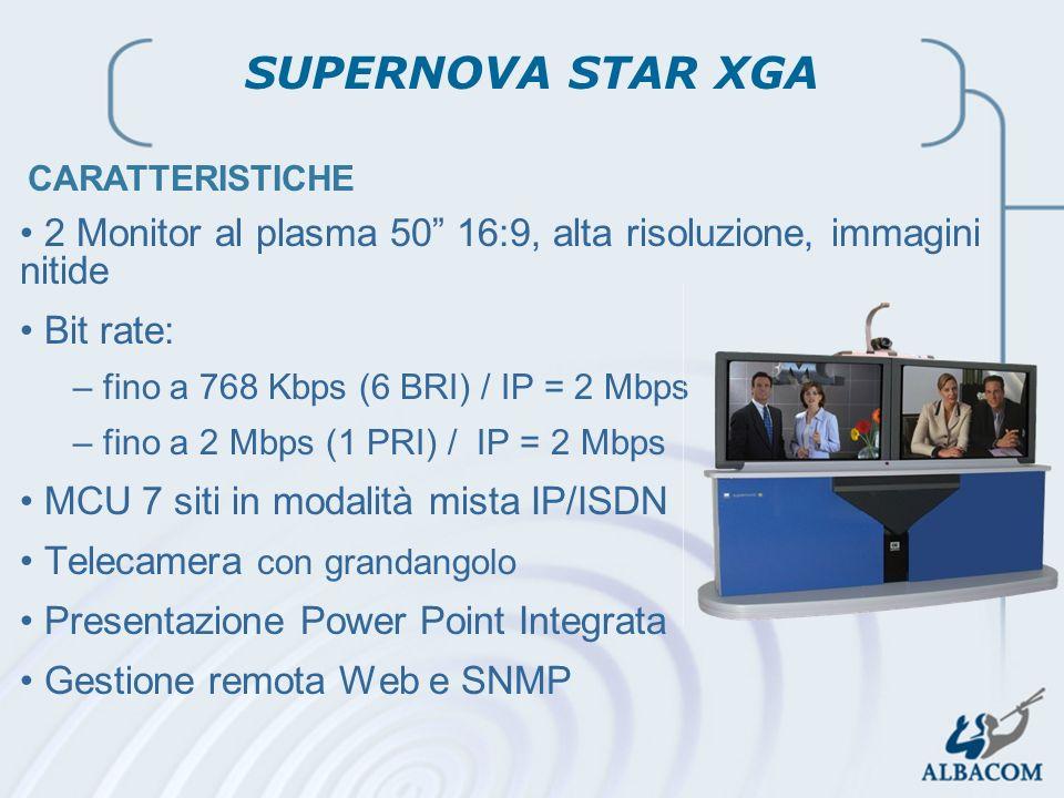 SUPERNOVA STAR XGA CARATTERISTICHE. 2 Monitor al plasma 50 16:9, alta risoluzione, immagini nitide.