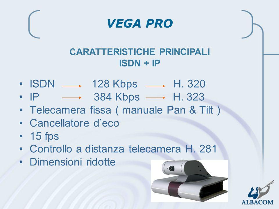 CARATTERISTICHE PRINCIPALI ISDN + IP