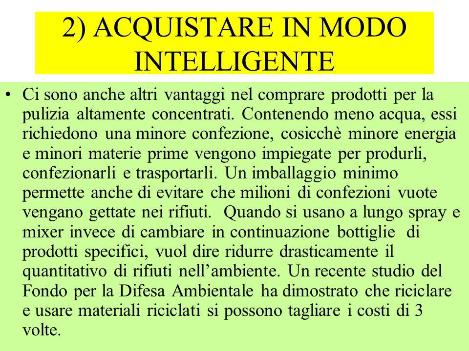 2) ACQUISTARE IN MODO INTELLIGENTE