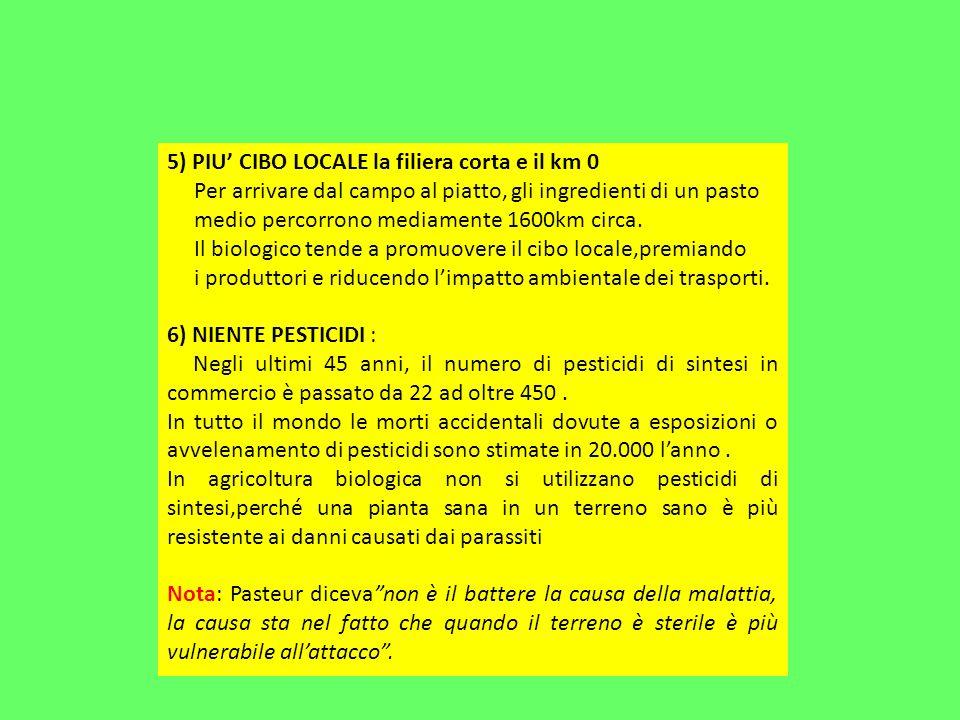 5) PIU' CIBO LOCALE la filiera corta e il km 0