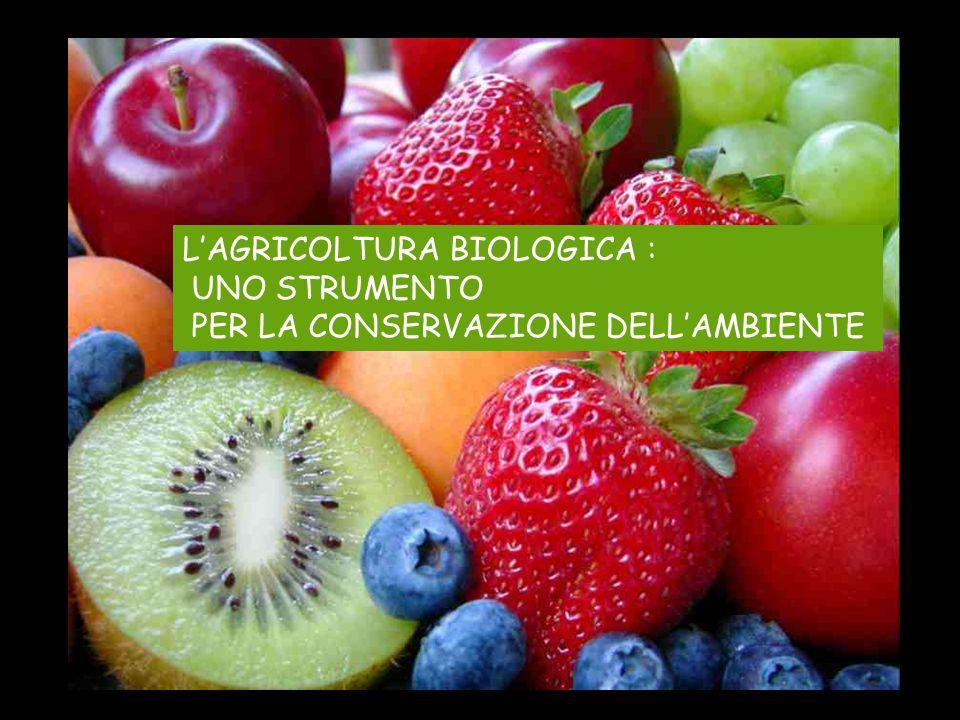 L'AGRICOLTURA BIOLOGICA :