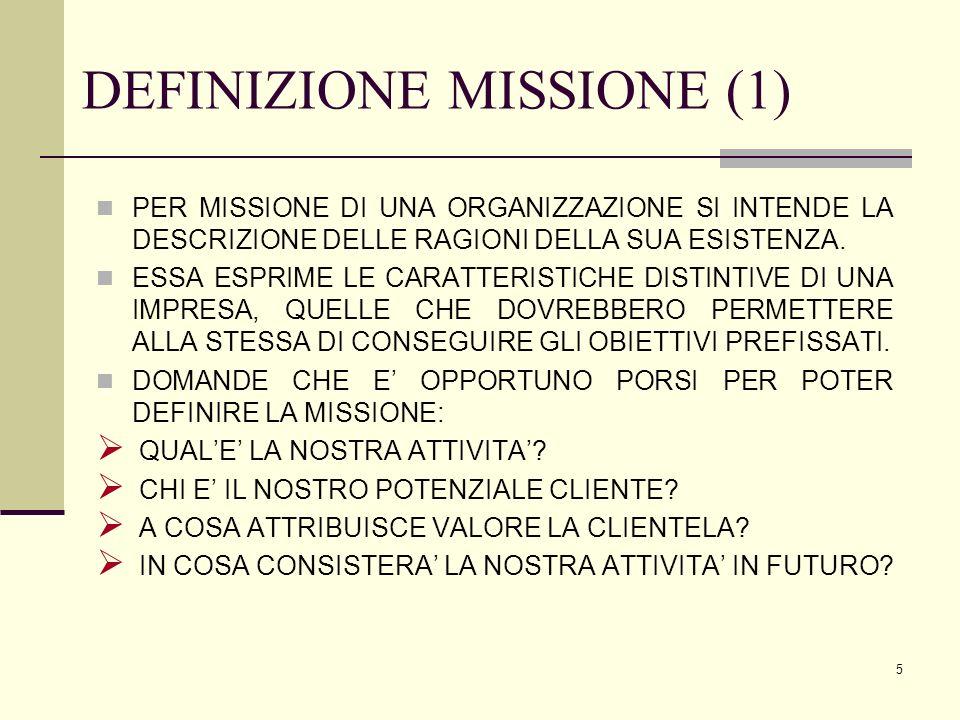 DEFINIZIONE MISSIONE (1)