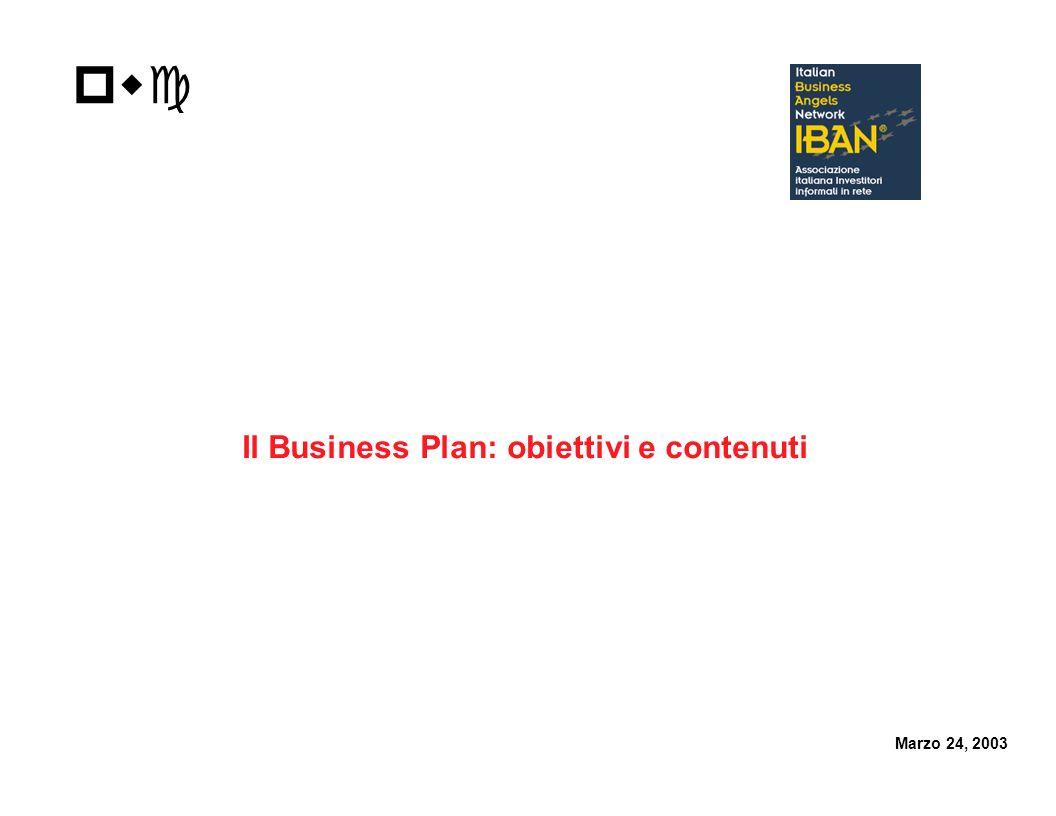 Il Business Plan: obiettivi e contenuti