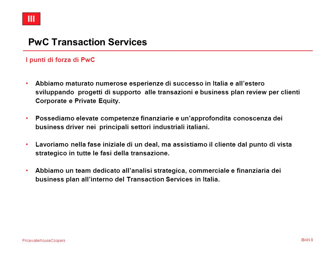 PwC Transaction Services