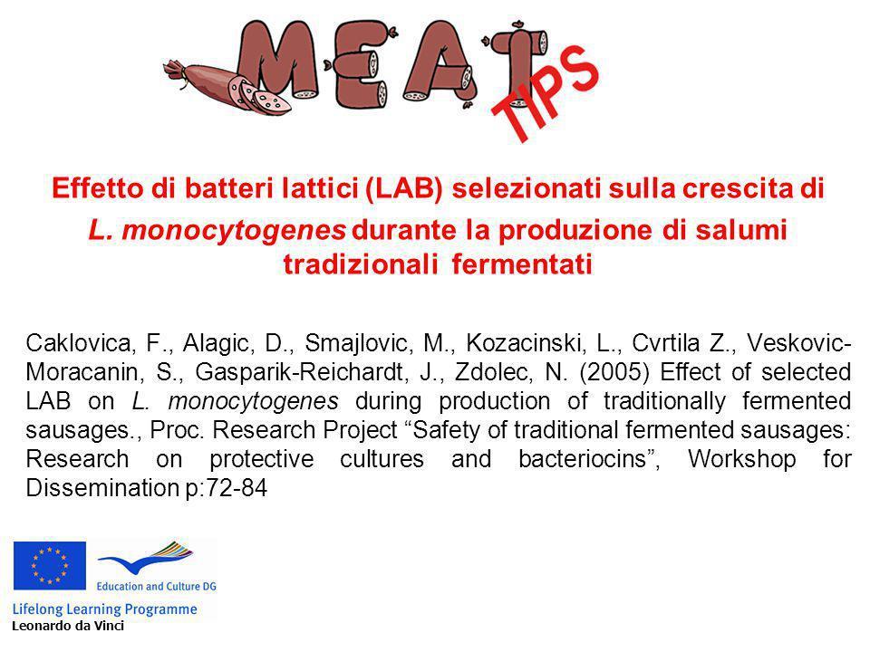Effetto di batteri lattici (LAB) selezionati sulla crescita di