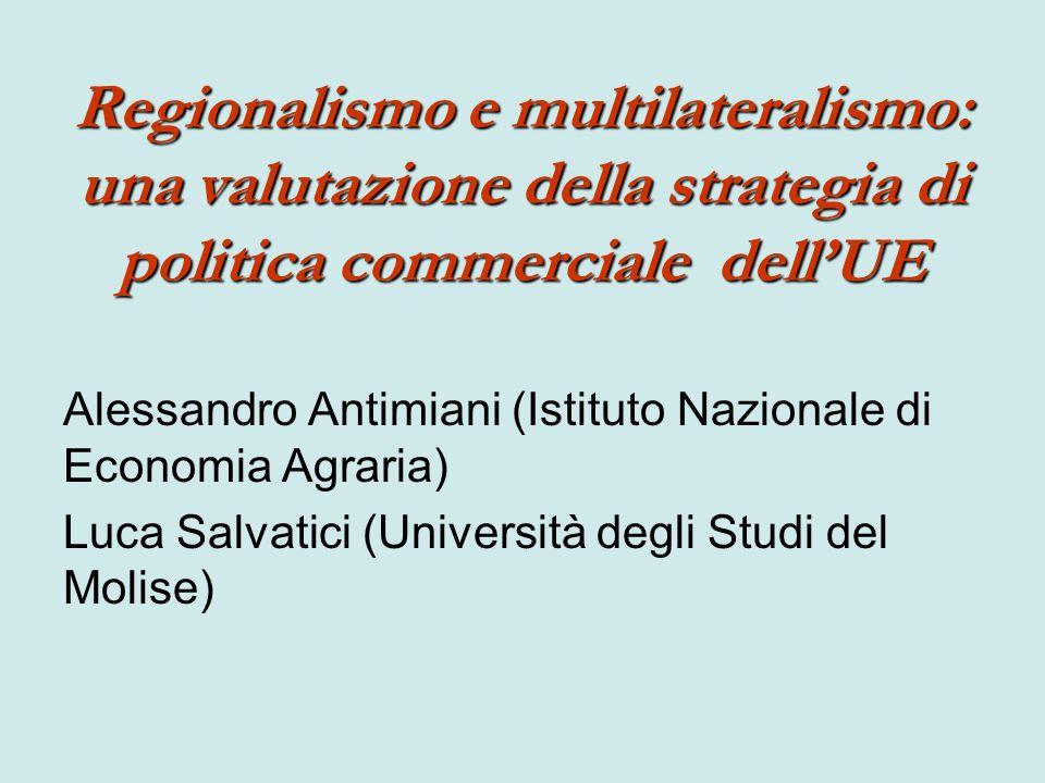 Regionalismo e multilateralismo: una valutazione della strategia di politica commerciale dell'UE