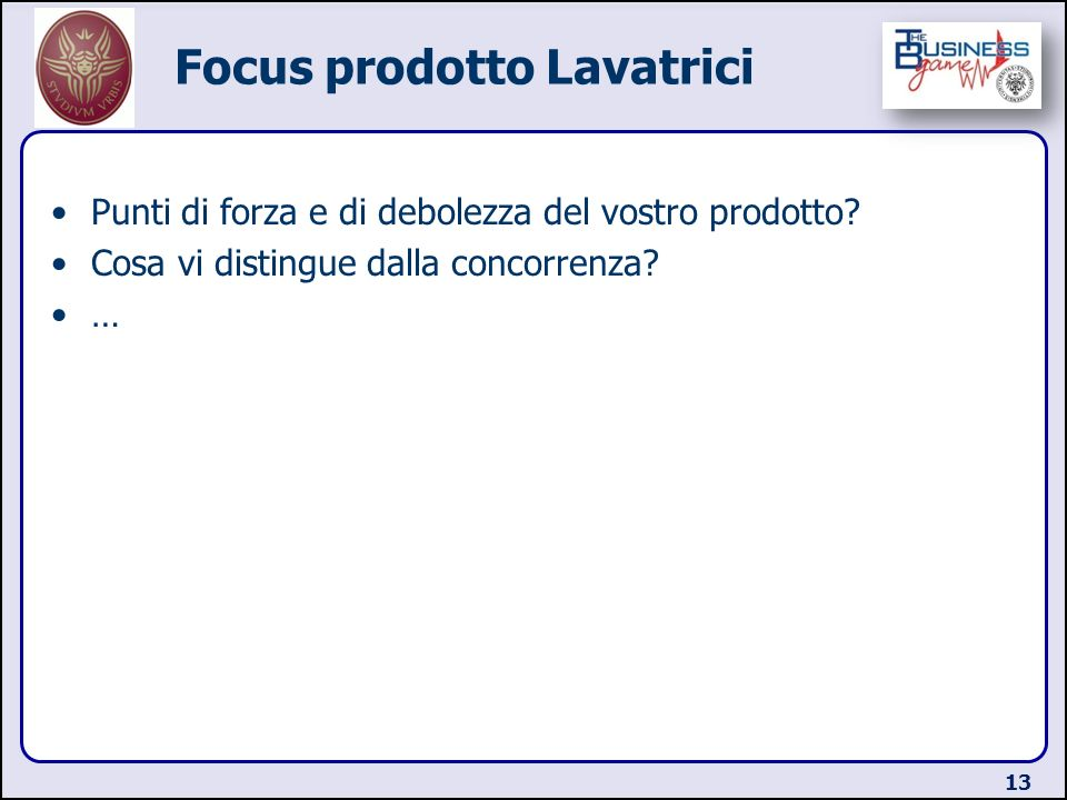 Focus prodotto Lavatrici