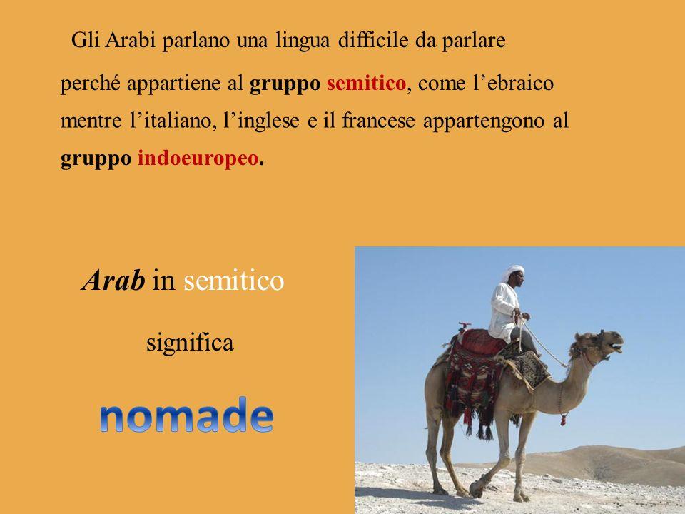 nomade Arab in semitico significa