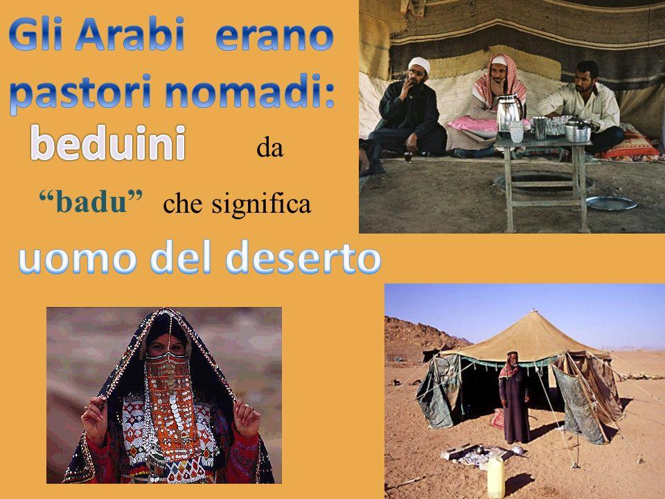 Gli Arabi erano pastori nomadi: beduini uomo del deserto
