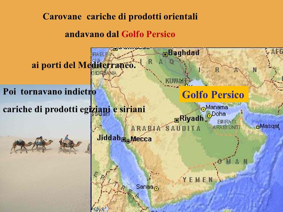 Golfo Persico Carovane cariche di prodotti orientali