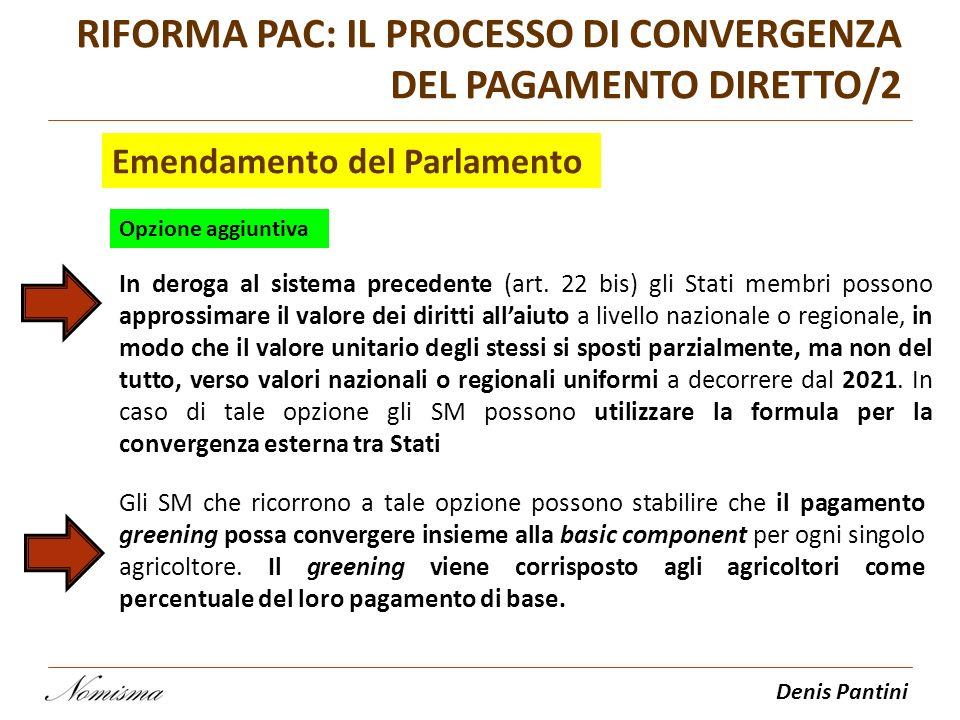 RIFORMA PAC: IL PROCESSO DI CONVERGENZA DEL PAGAMENTO DIRETTO/2