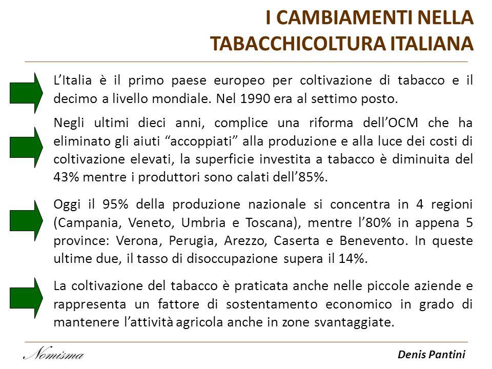 I CAMBIAMENTI NELLA TABACCHICOLTURA ITALIANA