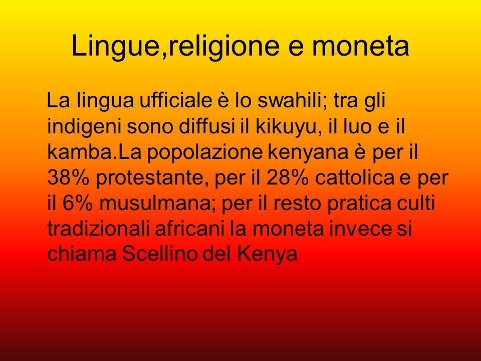 Lingue,religione e moneta