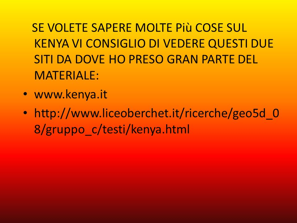 Kenya ppt video online scaricare for Siti dove regalano cose