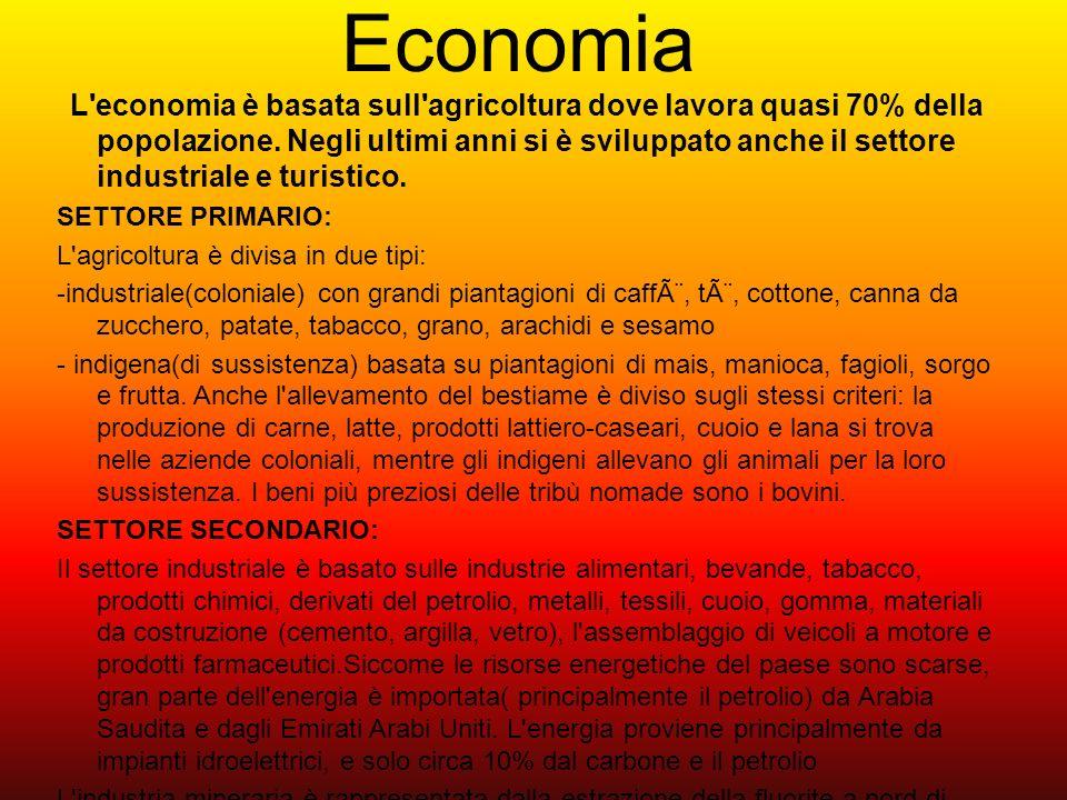 Economia SETTORE PRIMARIO: L agricoltura è divisa in due tipi: