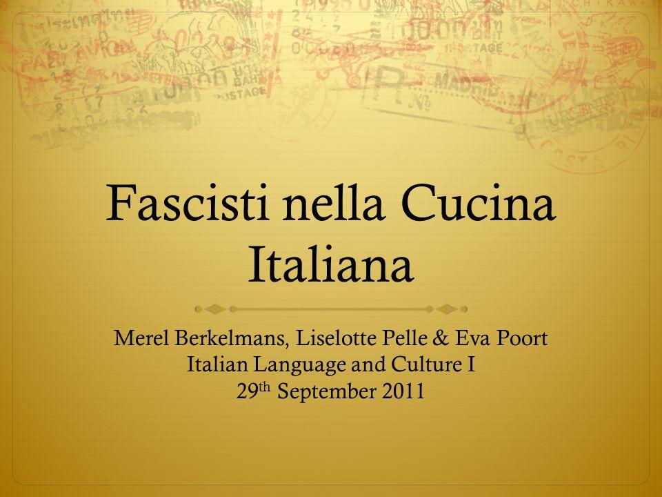 Fascisti nella Cucina Italiana