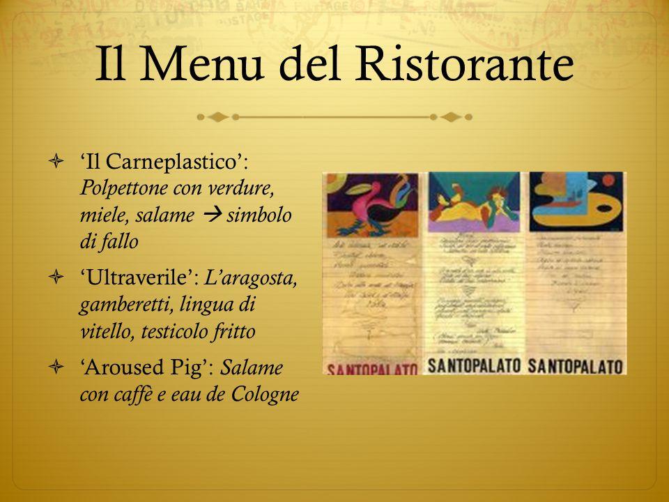 Il Menu del Ristorante 'Il Carneplastico': Polpettone con verdure, miele, salame  simbolo di fallo.