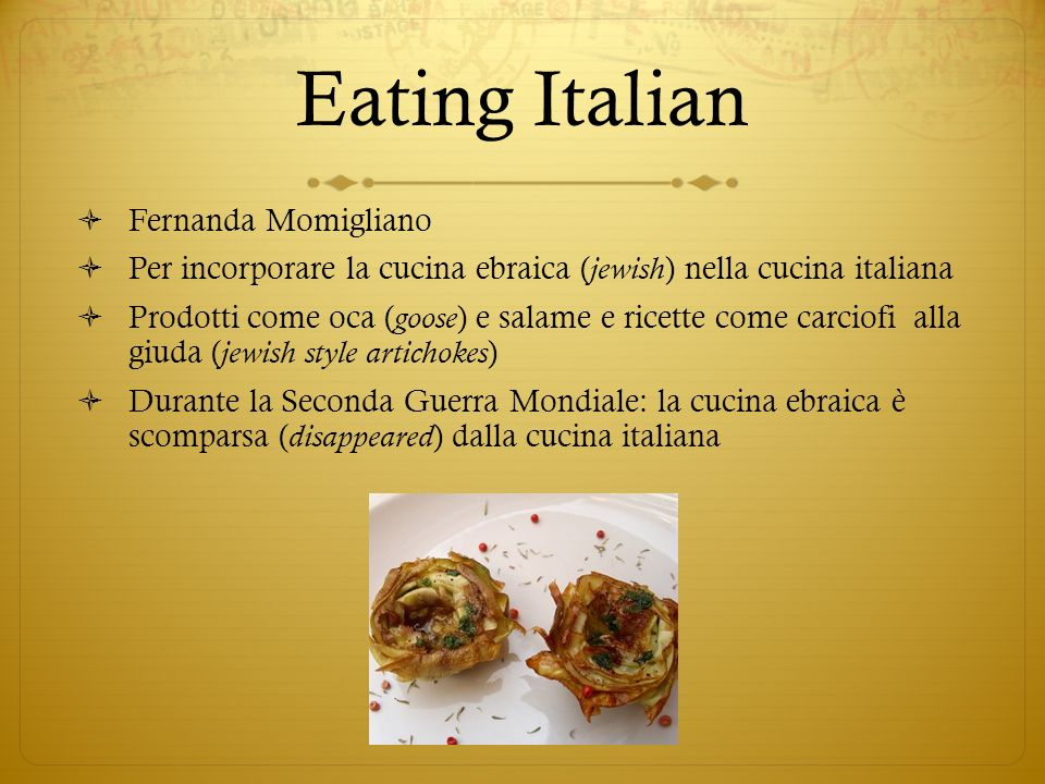 Eating Italian Fernanda Momigliano