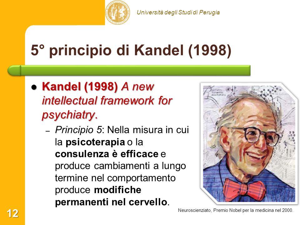 5° principio di Kandel (1998)
