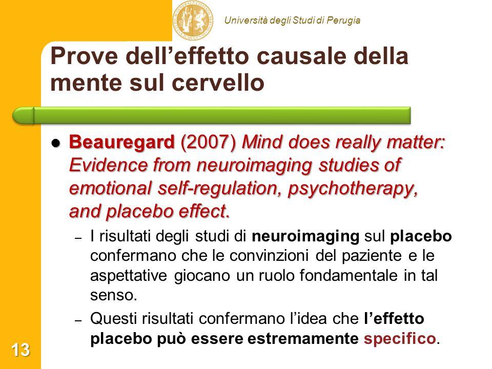 Prove dell'effetto causale della mente sul cervello