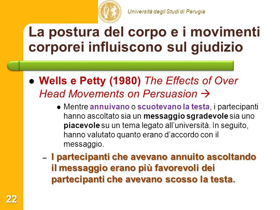 La postura del corpo e i movimenti corporei influiscono sul giudizio