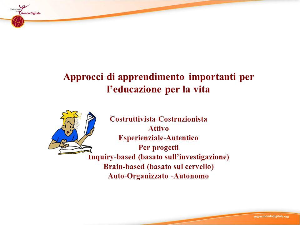 Approcci di apprendimento importanti per l'educazione per la vita