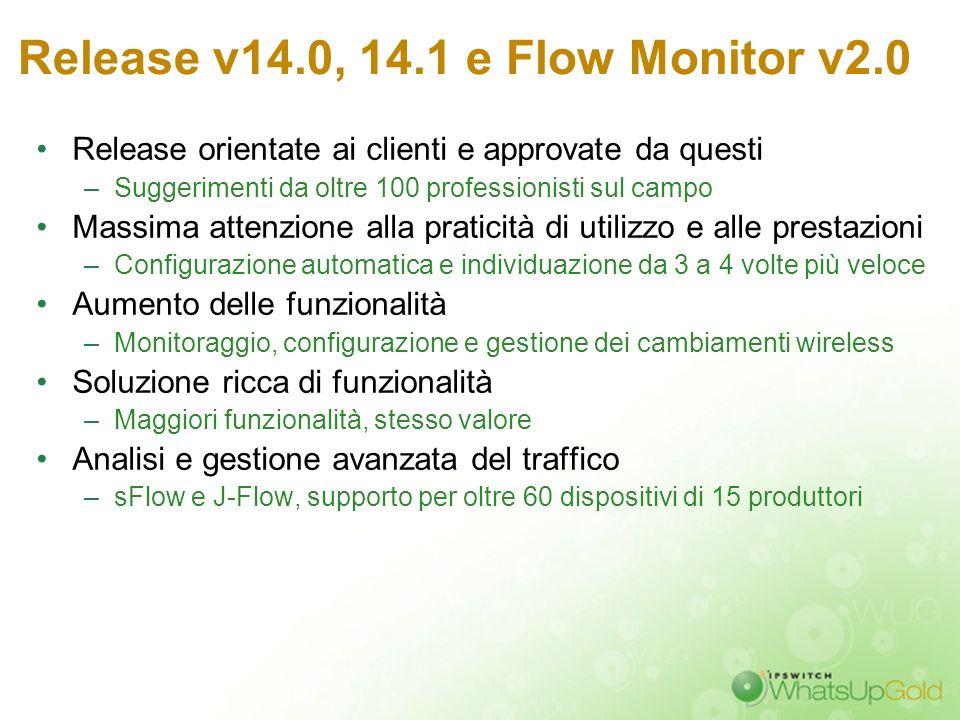 Release v14.0, 14.1 e Flow Monitor v2.0