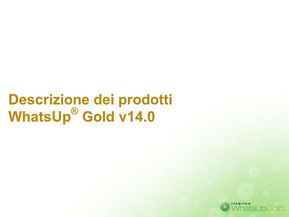 Descrizione dei prodotti WhatsUp® Gold v14.0