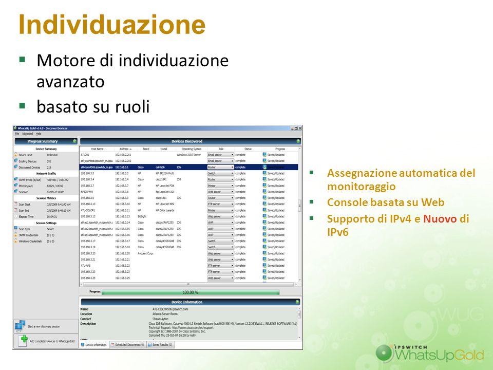 Individuazione Motore di individuazione avanzato basato su ruoli