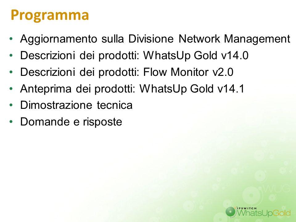 Programma Aggiornamento sulla Divisione Network Management