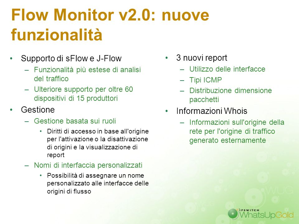 Flow Monitor v2.0: nuove funzionalità