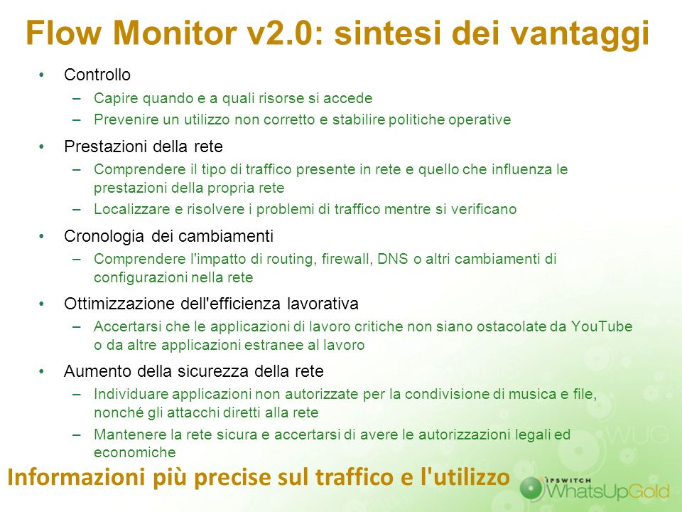 Flow Monitor v2.0: sintesi dei vantaggi