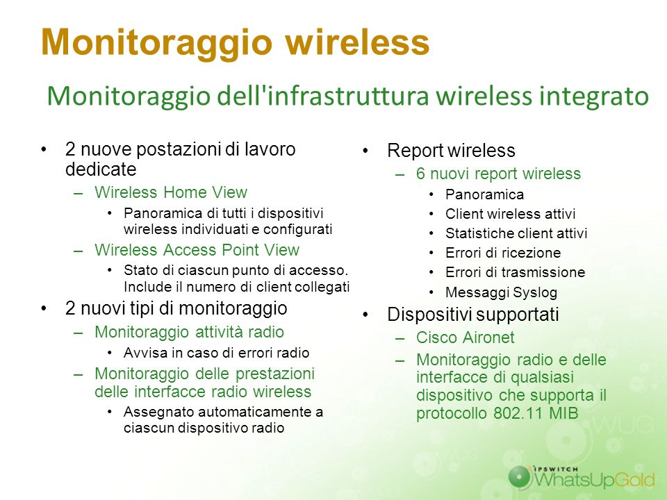 Monitoraggio wireless