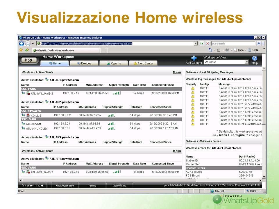 Visualizzazione Home wireless