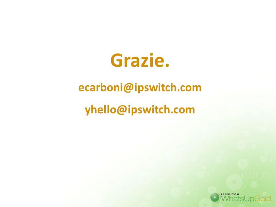 Grazie. ecarboni@ipswitch.com yhello@ipswitch.com 43 43