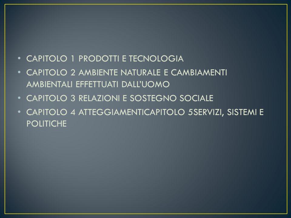 CAPITOLO 1 PRODOTTI E TECNOLOGIA