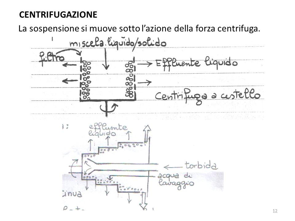 CENTRIFUGAZIONE La sospensione si muove sotto l'azione della forza centrifuga.