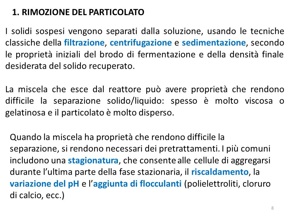 1. RIMOZIONE DEL PARTICOLATO