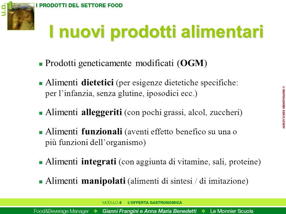 I nuovi prodotti alimentari
