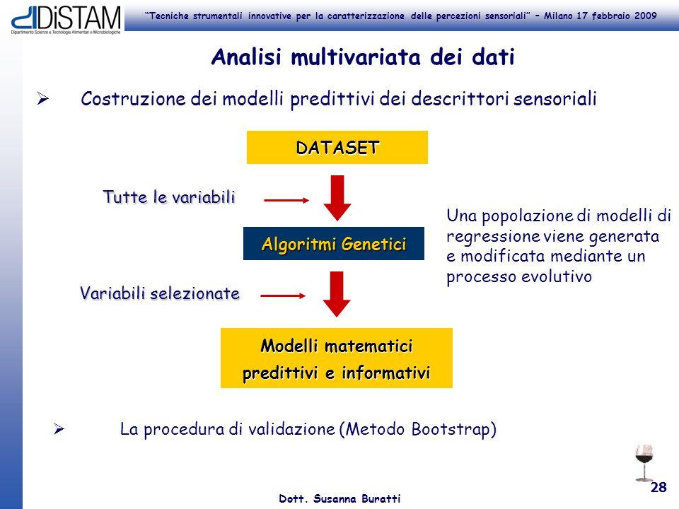Analisi multivariata dei dati