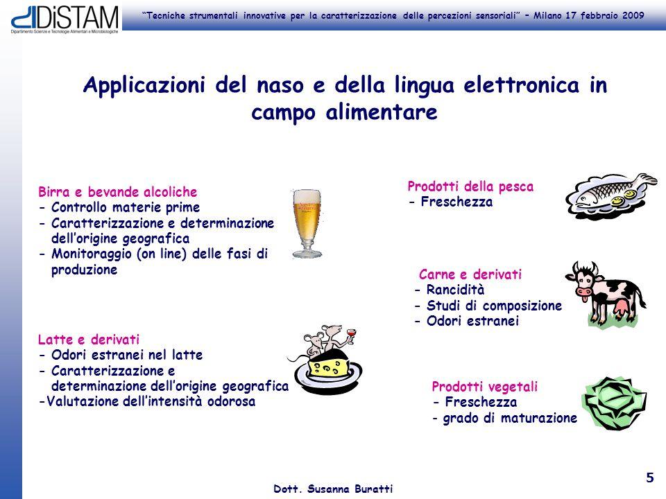 Applicazioni del naso e della lingua elettronica in campo alimentare
