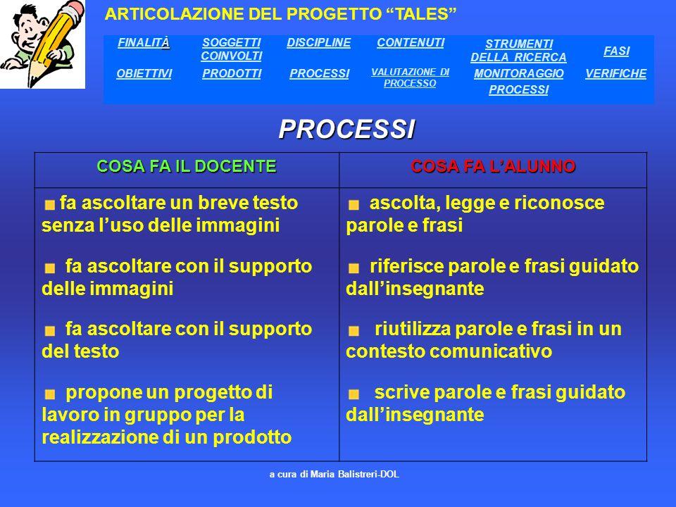 STRUMENTI DELLA RICERCA VALUTAZIONE DI PROCESSO