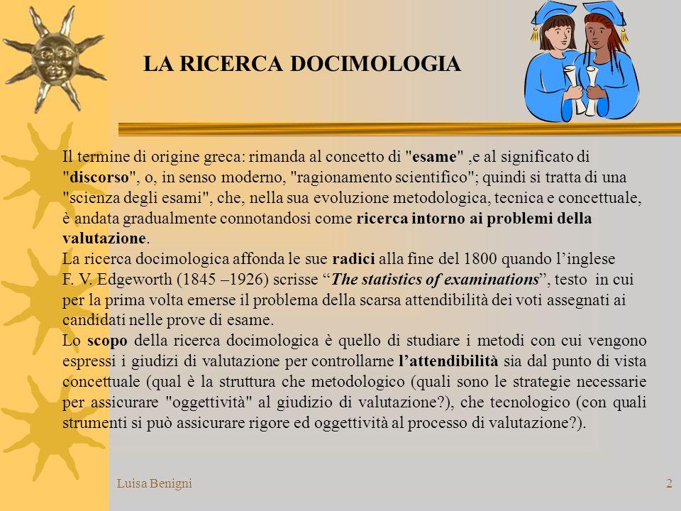 LA RICERCA DOCIMOLOGIA