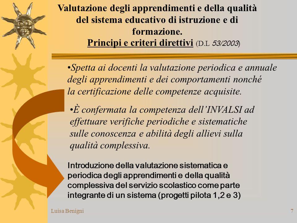 Principi e criteri direttivi (D.L 53/2003)
