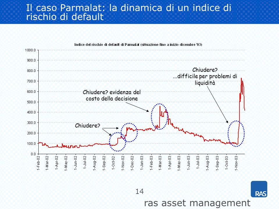 Il caso Parmalat: la dinamica di un indice di rischio di default
