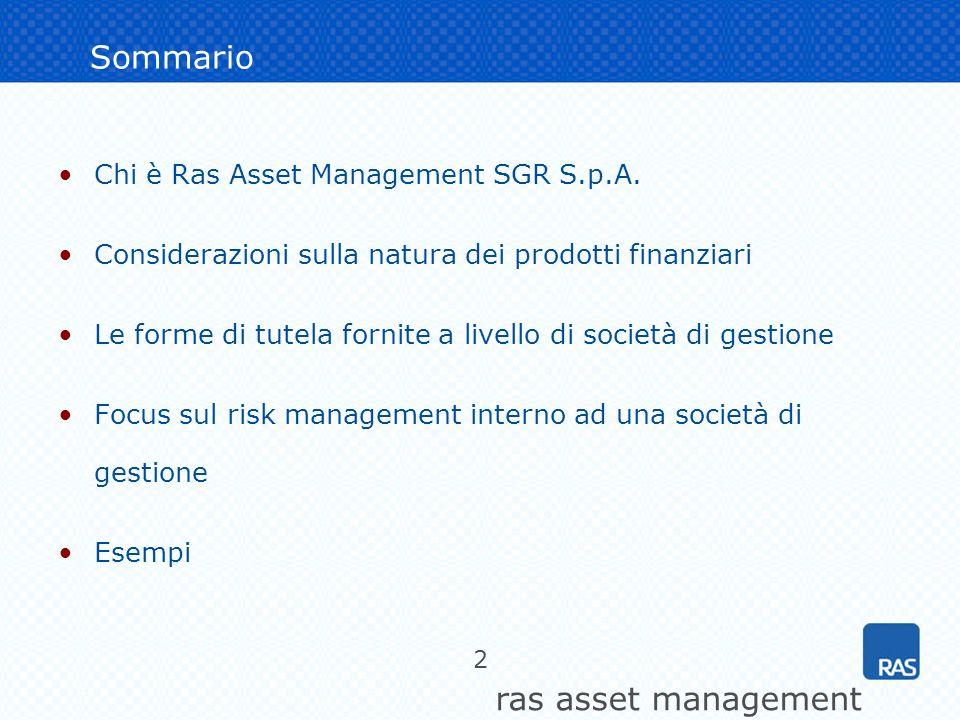 Sommario Chi è Ras Asset Management SGR S.p.A.